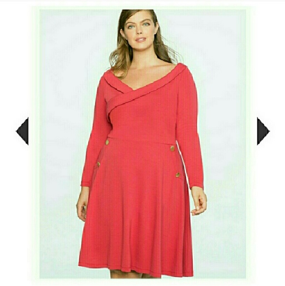 476bf63cb48 NEW 20W ELOQUII PLUS SIZE RED DRESS 2X